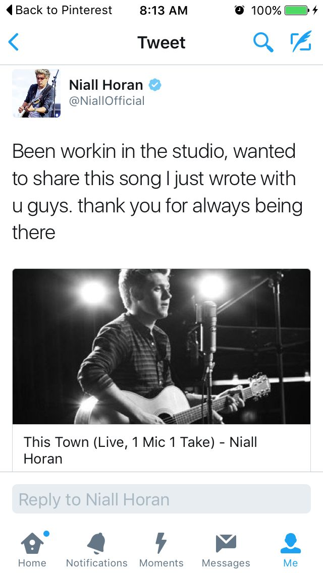 Nialls new single! This Town! (click pin to hear the song)