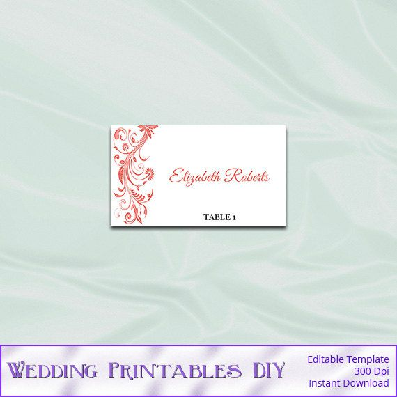 The 25+ best Place card template word ideas on Pinterest Book - place card template
