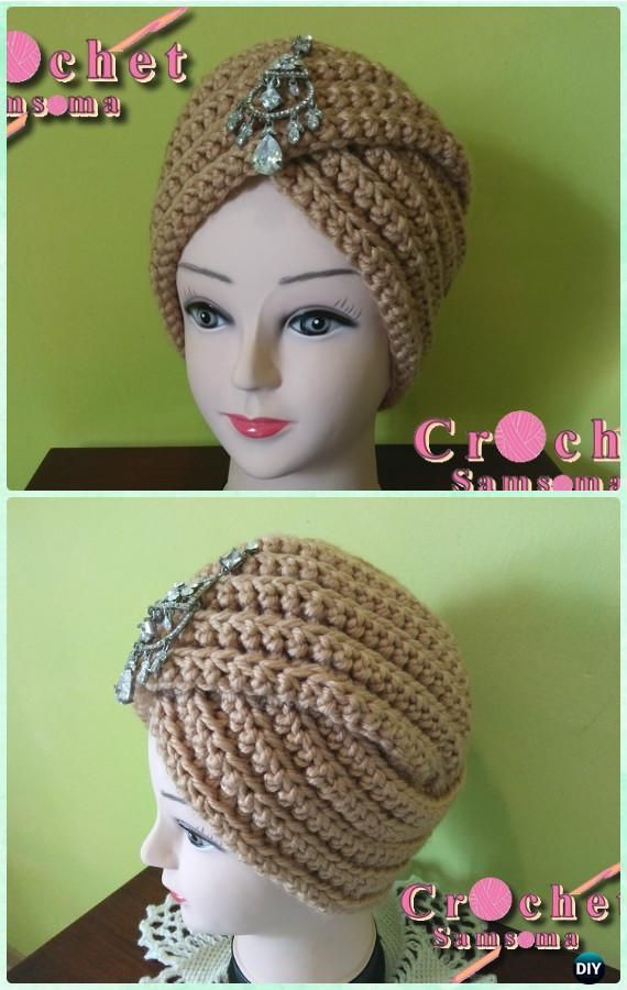 Crochet Ribbed Turban Hat Pattern - Crochet Turban Hat Free Patterns