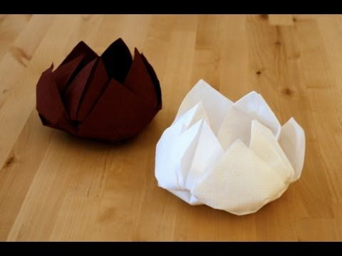 Origami Fleur de lotus -- best napkin flour tutorial