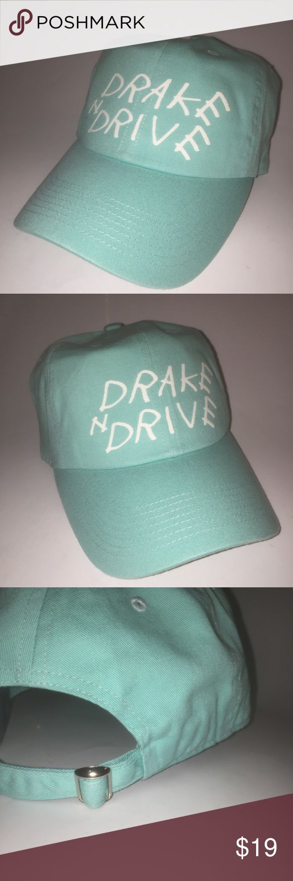 Drake n Drive Dad Hat NWT This Mint Blue  Strapback Dad Hat is adjustable with tuck pocket NEW___Ignore tags: huf, weed, marijuana, kush, obey, stussy, dope, trill, Blvck, boy london, paris, joggers,  trap style, rave, rare, huf, blvck fashion, trill, pipe, dabber, glass, sad, me, goth, goth girl, woes, the six, 6ix, ovo, blvck, Brooklyn, London, pikachu, 6 God, glitter, naps, mobb, asap, long style, Ovo, snapback, pastel, Brandy, American, urban, anti social club, unif Accessories Hats