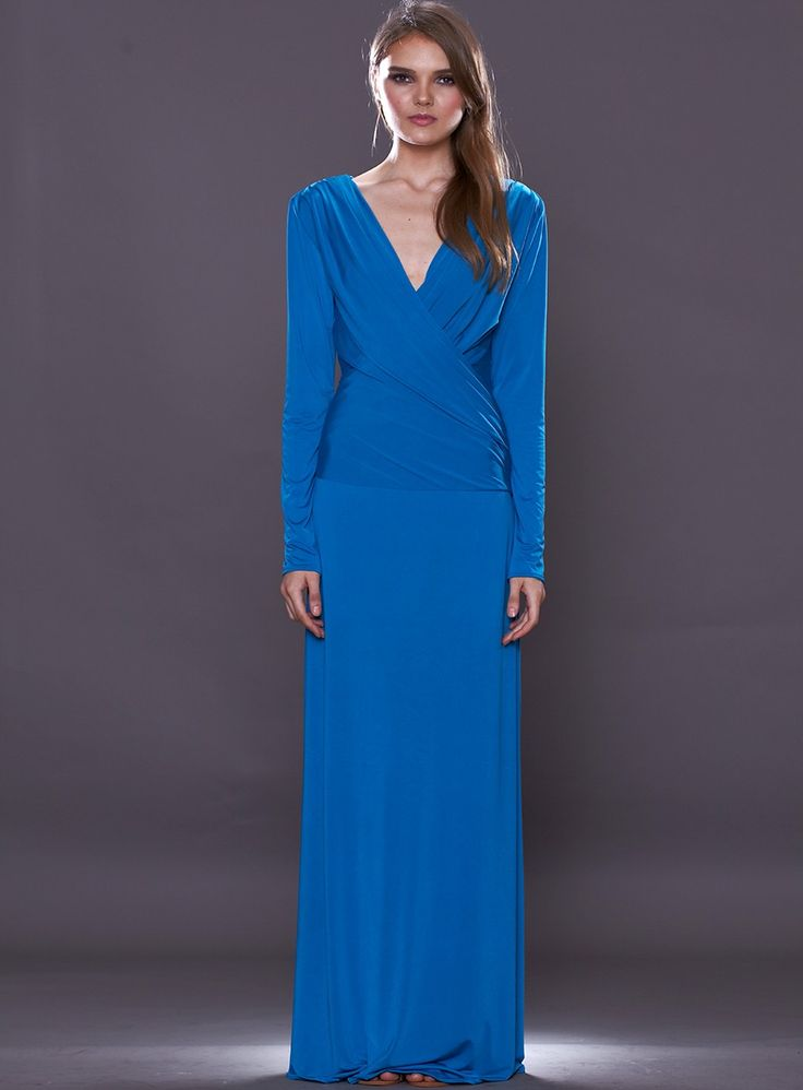 The Finesse Dress by Pia Gladys Perey is a gorgeous long sleeved gown. A flattering style featuring a wrap styled bodice to shape and minimize your waistlne. Available in Cobalt Blue & Latte.   This item takes 1-2 weeks for delivery as they are made to order. Some sizes may...
