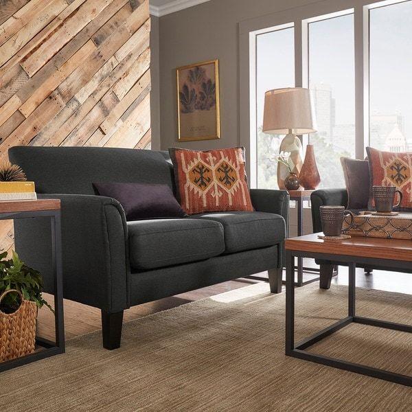 modern tailored upholstered loveseat furnish the new house rh pinterest com
