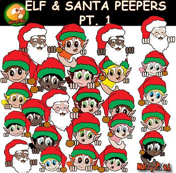 Nutty Pixel's Elf and Santa peepers are part of the Christmas themed clip-art. The pack of 30 images includes everything you see on the preview and the black and white version. Hope you all enjoy :) All images are at 300dpi, so you can enlarge them and they will still be crisp.