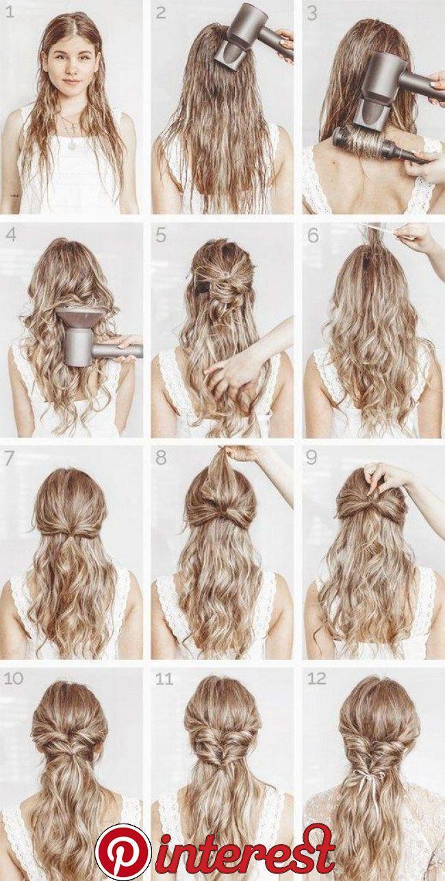 Haar Step By Step Haar Step By Step Easy Hairstyles Medium Hair Styles Elegant Hairstyles
