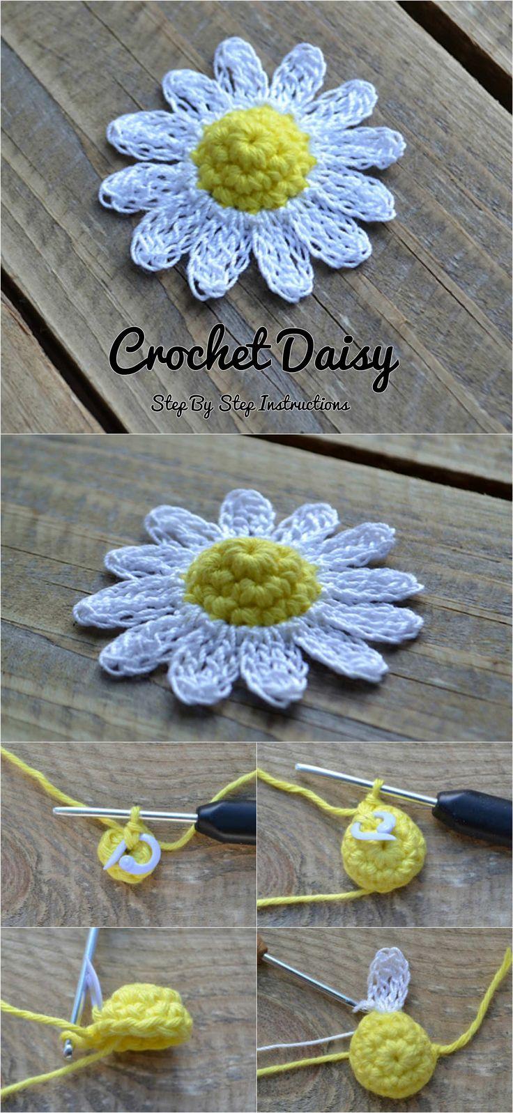 Crochet Daisy Flower