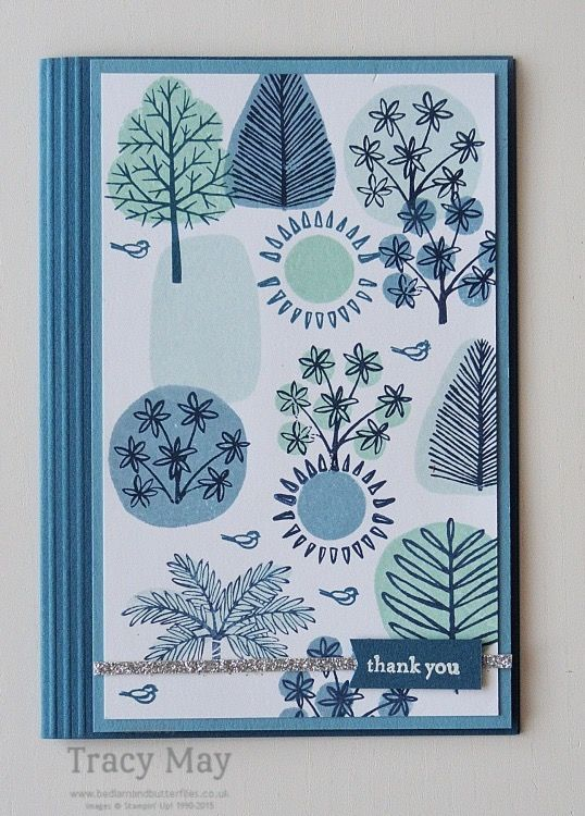 Totally Trees by Stampin' Up! Again! I love this stamp set. Can you tell? Here's another card I made using it. They are all totally different though!