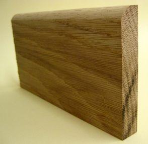 Oak Bull Nosed Skirting Board