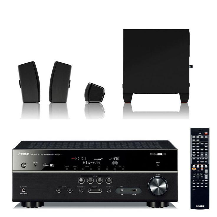 Ensemble home cinéma Yamaha RX-V477 Noir + JBL Cinema 610 Ampli-tuner Home Cinéma 5.1 DLNA 3D-Ready avec HDMI 1.4 décodeurs HD et Airplay + Pack d'enceintes 5.1