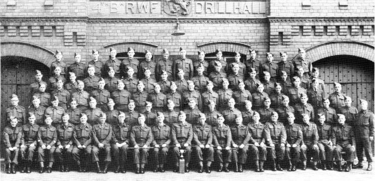 Home Guard Parade outside Poyser Street, Wrexham 4 RWF HQ Drill Hall.