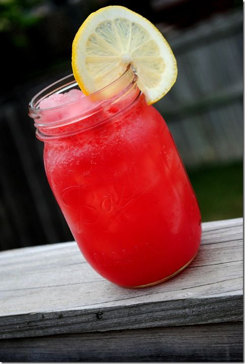 Boozy watermelon lemonade coolers. yes.