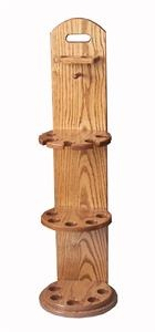 This Amish Oak Wood Pool Cue Rack makes a great Father's Day gift!
