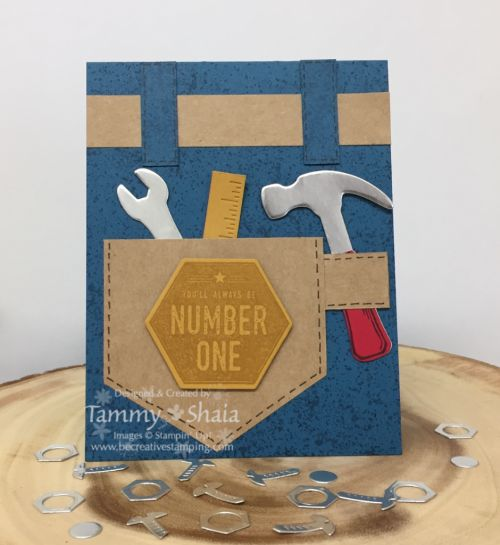 Urban District Back Pocket Card.  This card is inspired by Billie Moan, Stampin' Up! demonstrator!