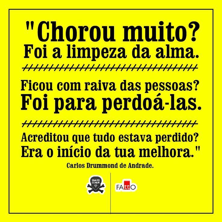 Um dos meus textos favoritos de Carlos Drummond de Andrade: Encerrando Ciclos.