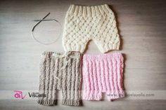 Pantaloncini a maglia con ferro circolare