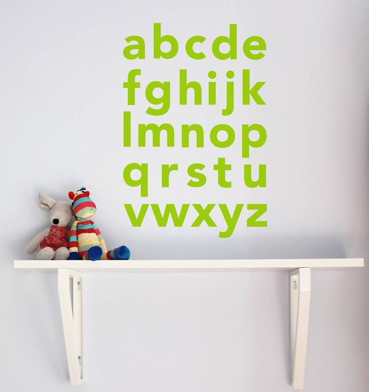 Alphabet Wall Sticker from notonthehighstreet.com