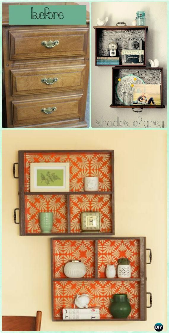 Recycling Projects 70 Diys That Ll Transform Your Home Diy Drawers Old Drawers Drawer
