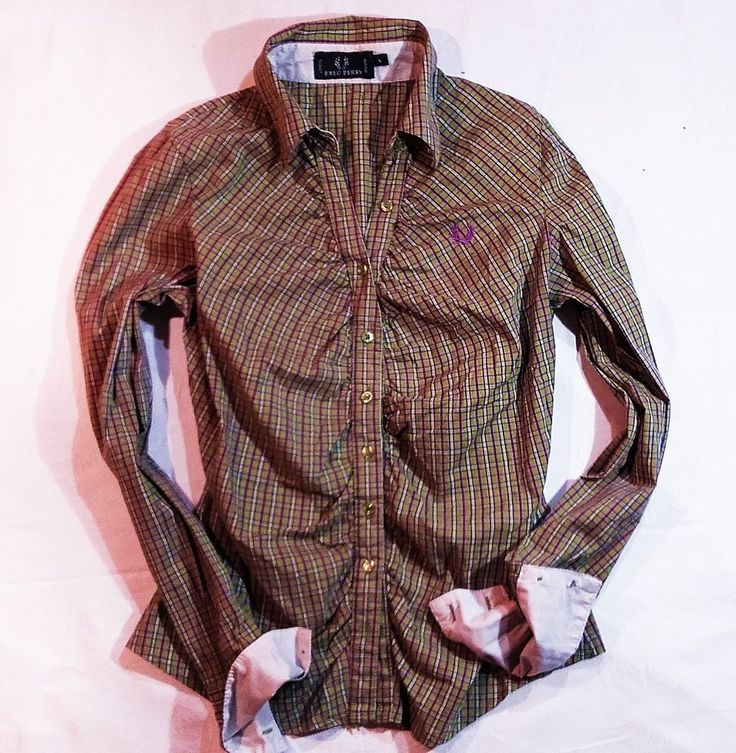 Autentic womens shirt  Fred Perry casual to office  Size L #FredPerry #ButtonDownShirt #Casual