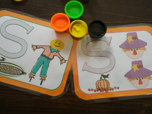 Scarecrow Play-Doh Mats   - Pinned by @PediaStaff – Please Visit http://ht.ly/63sNt for all our pediatric therapy pins