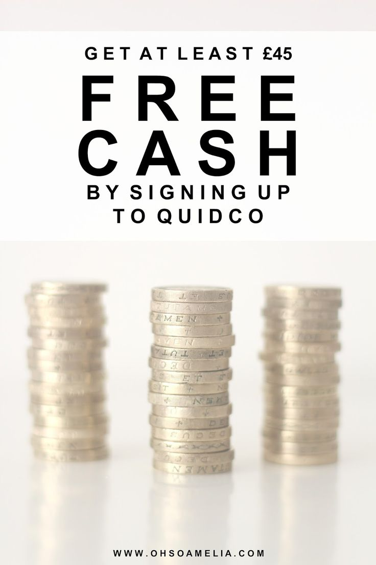 Fancy earning some free cash? Get At Least £45 FREE CASH By Signing Up To Quidco.com. Really quick and simple!