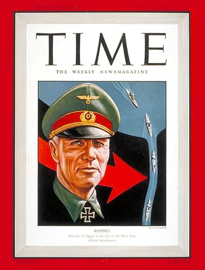 TIME Magazine Cover: Field Marshal Rommel - July 13, 1942 - Germany - Military - World War II - Nazism