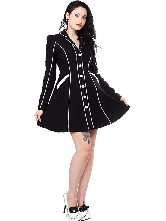 """Women's """"Fancypants"""" Coat by Sourpuss Clothing (Black) #InkedShop #coat #fancy #style #fashion #womenswear #womensclothing #outerwear"""