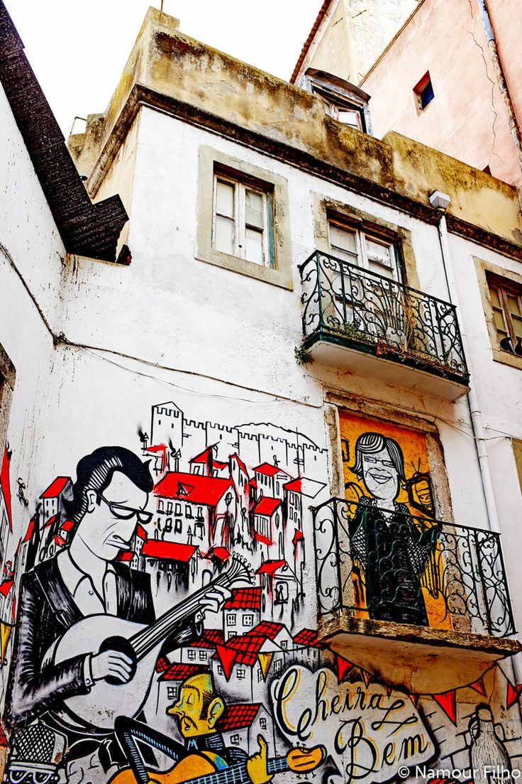 Street Art in Lisbon, Portugal WELCOME Enjoy Portugal Cottages and Manor Houses a very wide selection of self catering holiday cottages