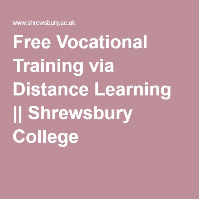 Free Vocational Training via Distance Learning || Shrewsbury College