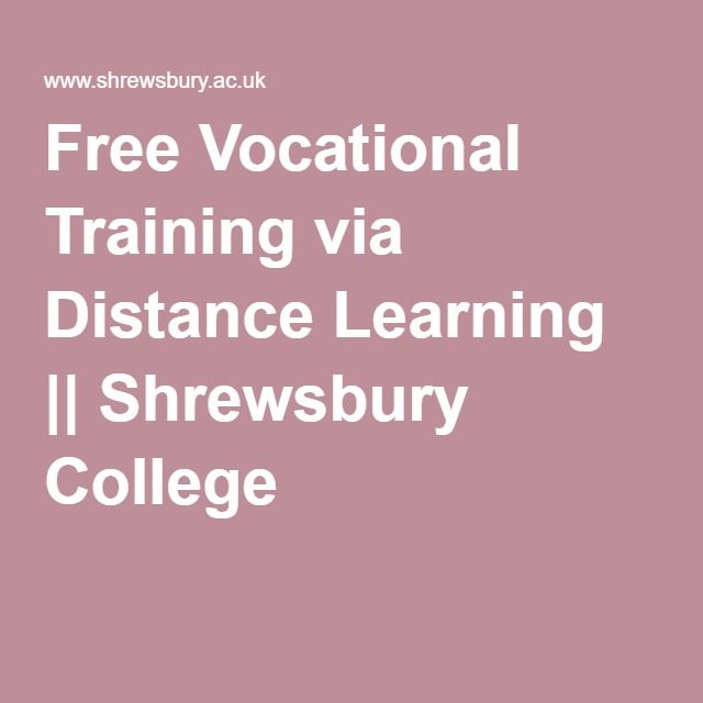 Free Vocational Training via Distance Learning || Shrewsbury College