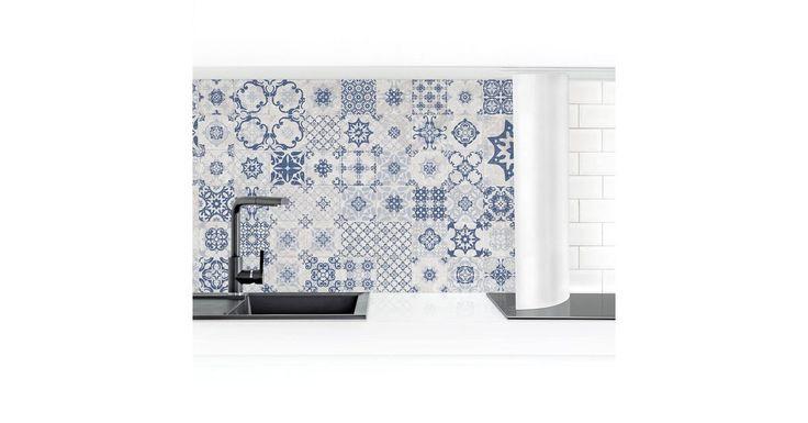 Küchenrückwand »Keramikfliesen Agadir blau«