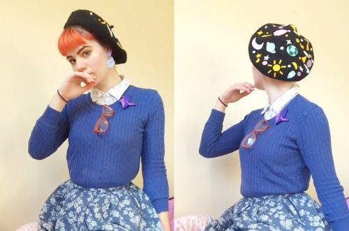 @amber_starlight in the Galaxy Beret by Elleni the Label