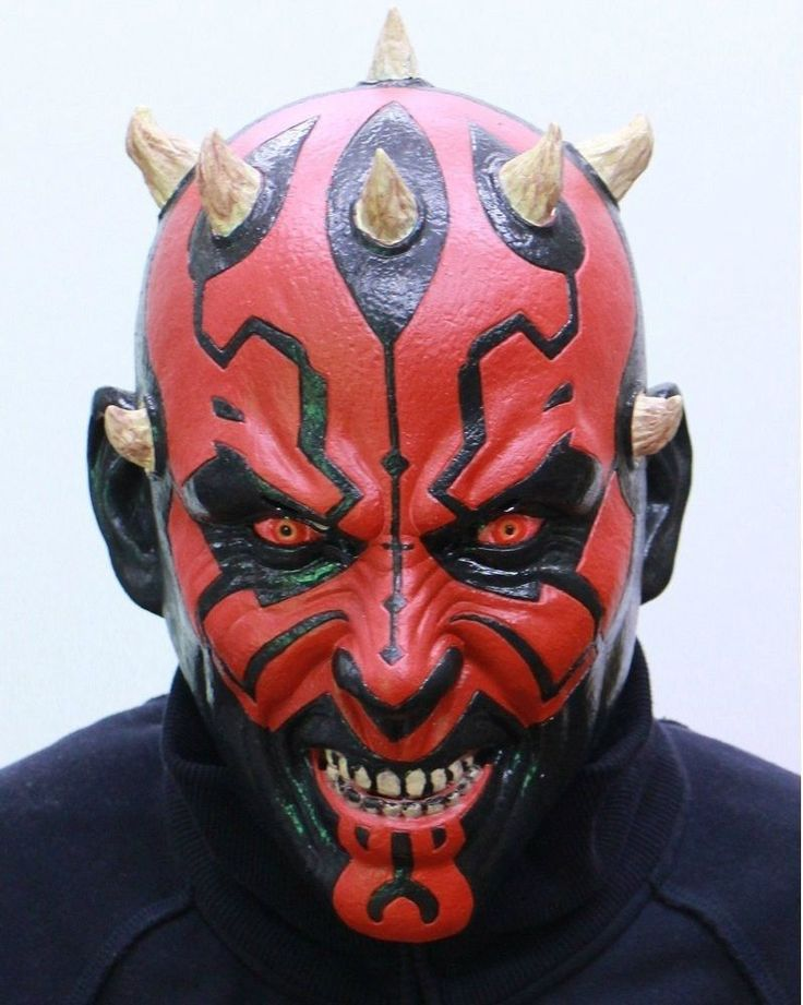 Star Wars Darth Maul Full Face Rubber Mask from Japan Gift Ogawa studio NEW #Ogawastudio #Mask #Christmas