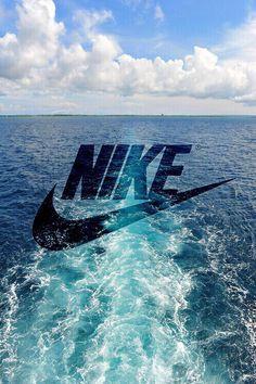 ce, valide, logo, Nike, tapisserie, eau