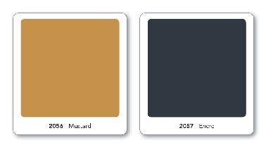 Peinture 1825 Couleur jaune Moutarde et bleu Encre la nouveauté de février