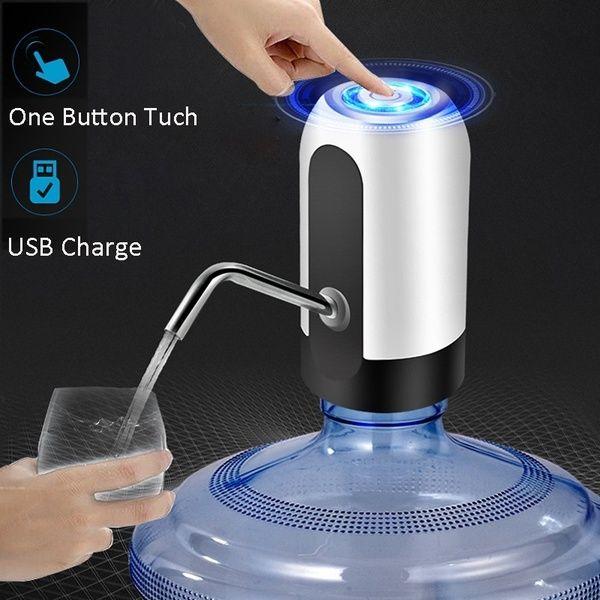 Auto Electric Gallon Bottle Drink Water Pump Dispenser USB Rechargeable Wireless