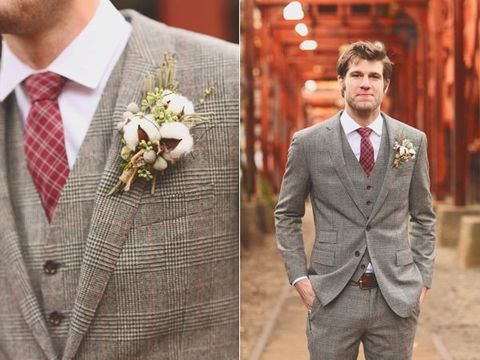 28 Inspiring And Stylish Fall Groom Looks | HappyWedd.com