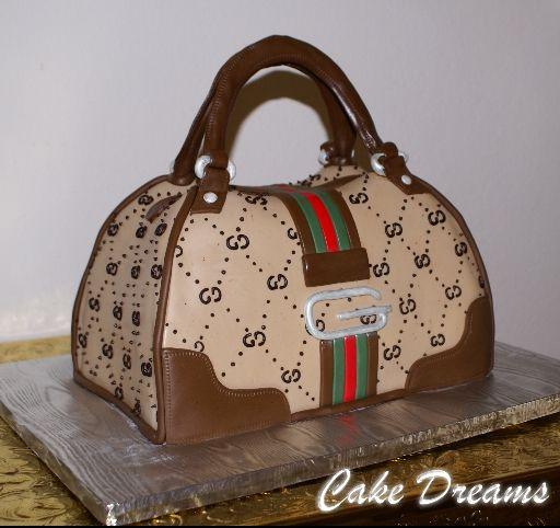 how to make a handbag cake designs