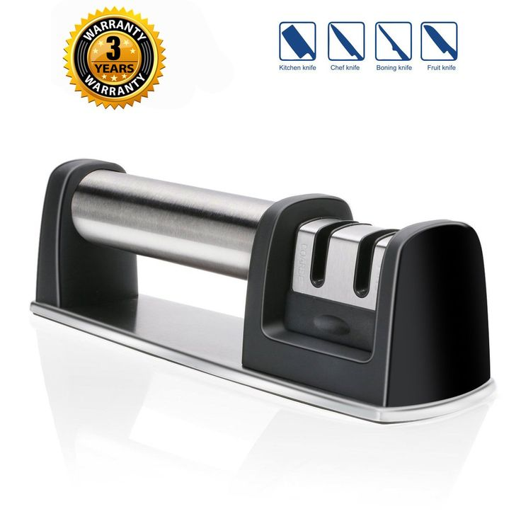 Serrated Knife Sharpener Knife Sharpening Steel System Kitchen Knife and Tool Sharpener for Straight Knives Scissors