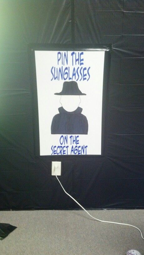 Pin the Sunglasses on the Secret Agent---game to practice Bible verses for VBS toddlers