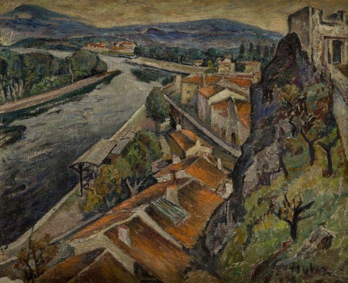 Mela (Maria Melania) Muter (Mutermilch) - Nad Rodanem, około poł. XX w. r.