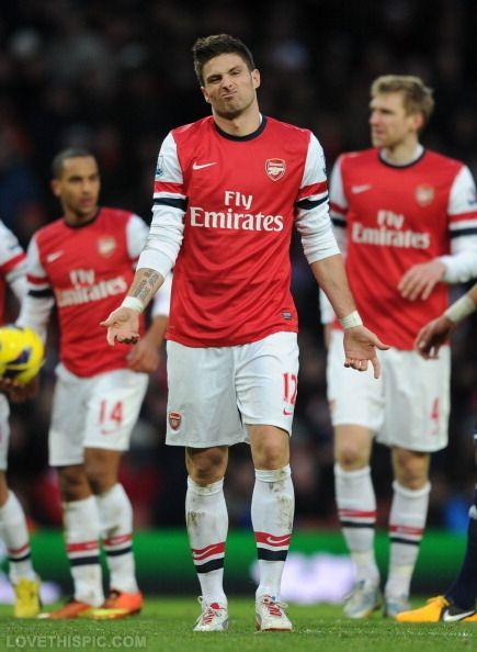 Olivier Giroud soccer Barclays premier league. Arsenal