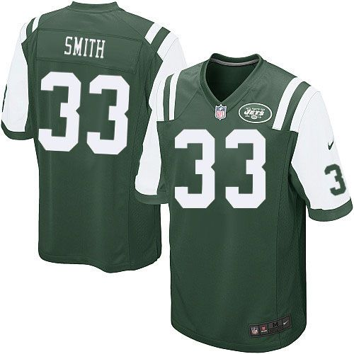 NFL New York Jets Eric Smith Youth Limited Green #33 Jerseys