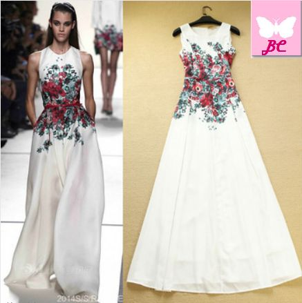 Fashion Print Floral Maxi Dress