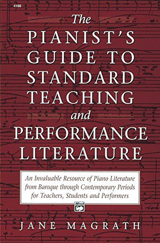 21 best piano pedagogy books images on pinterest piano classes pianists guide to standard teaching and performance literature fandeluxe Gallery