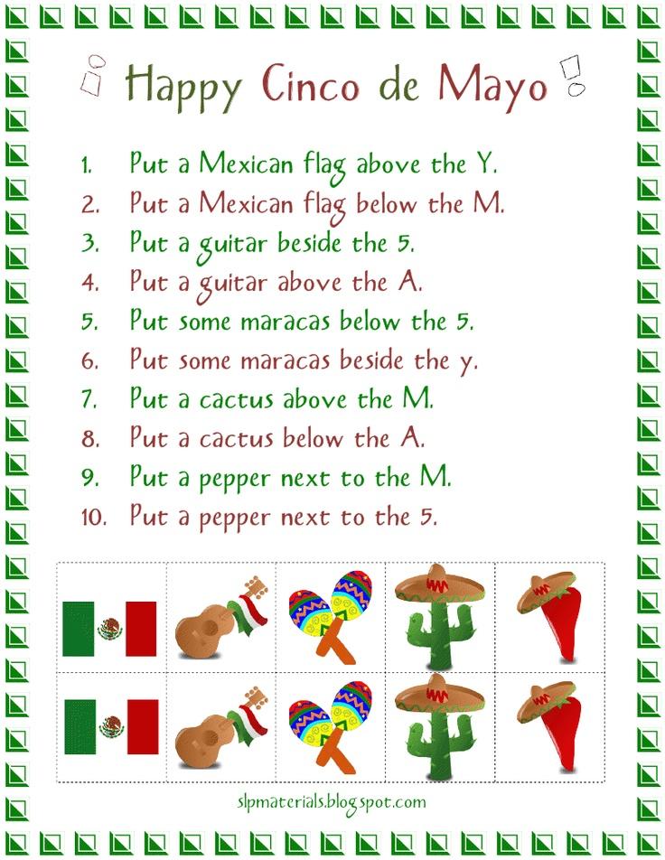 5 de mayo writing activities for kids
