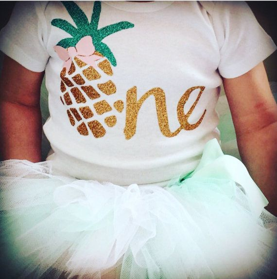Luau First Birthday Outfit  Pineapple 1st Birthday by BespokedCo