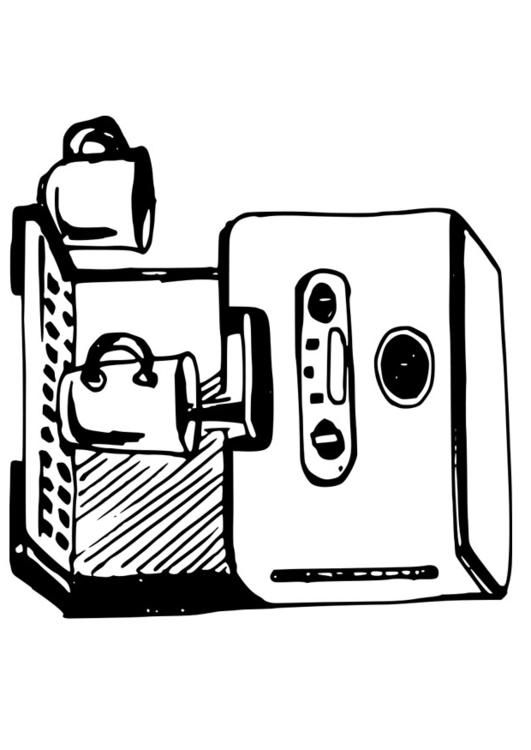 Coffee Maker Theresa Job Cafe Coffee Coffee Maker Coloring Pages
