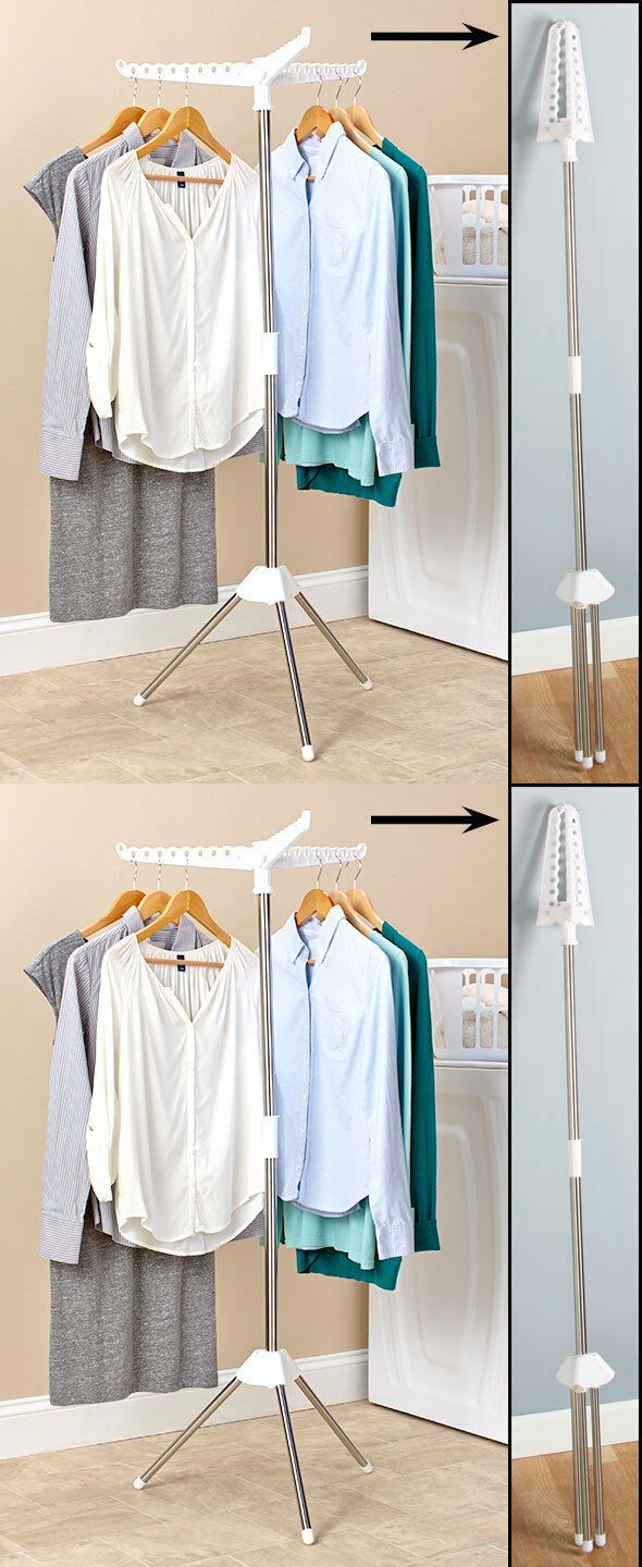 Clotheslines And Laundry Hangers 81241 Foldable Clothes Portable Storage Drying Rack Dryer Hanger Stand Hang It Now Only 19 67 On Ebay