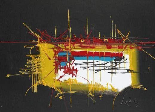 Vossius Artist: Georges Mathieu Completion Date: 1970 Style: Tachisme Genre: abstract Technique: oil on canvas Dimensions: 89 x 116 cm