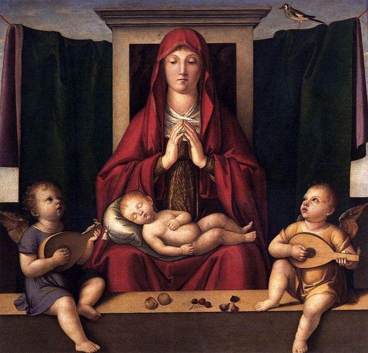 348. Alvise Vivarini - Adorazione del Bambino - 1500 circa